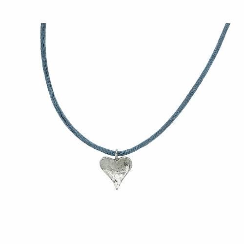 Ασημένιο μενταγιόν ανάγλυφη καρδιά 66e95e76763